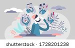 feeling expressions vector... | Shutterstock .eps vector #1728201238