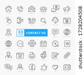 contact us icon set  vector... | Shutterstock .eps vector #1728204508
