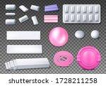 chewing gum package vector... | Shutterstock .eps vector #1728211258