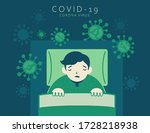 frightened man character and... | Shutterstock .eps vector #1728218938
