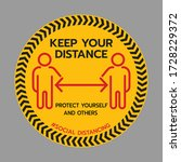 keep your distance sign. stop...   Shutterstock .eps vector #1728229372
