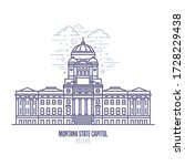 montana state capitol located... | Shutterstock .eps vector #1728229438