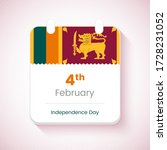 4th february  independence day... | Shutterstock .eps vector #1728231052