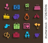 love icons set in flat style | Shutterstock .eps vector #172825046