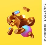 modern minimal design with...   Shutterstock .eps vector #1728257542