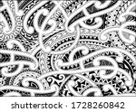 maori style tattoo ornament for ... | Shutterstock .eps vector #1728260842