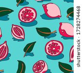 fruit seamless pattern with... | Shutterstock .eps vector #1728274468