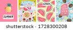 summer  vector illustrations of ... | Shutterstock .eps vector #1728300208