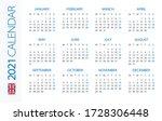 calendar 2021 year horizontal   ...   Shutterstock .eps vector #1728306448