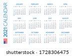 calendar 2021 year horizontal   ...   Shutterstock .eps vector #1728306475