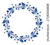 blue and white ornamental round ... | Shutterstock .eps vector #1728306808