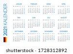calendar 2021 year horizontal   ... | Shutterstock .eps vector #1728312892