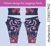 pattern design for leggings... | Shutterstock .eps vector #1728317902