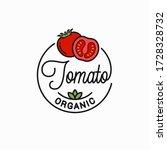 tomato vegetable logo. round... | Shutterstock .eps vector #1728328732