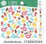 summer i spy game for kids.... | Shutterstock .eps vector #1728342265