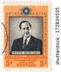 philippines   circa 1958  a... | Shutterstock . vector #172834535