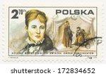 poland   circa 1975  a stamp... | Shutterstock . vector #172834652
