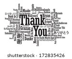 thank you word cloud in vector... | Shutterstock .eps vector #172835426