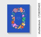 fruit and vegetable template ...   Shutterstock .eps vector #1728355405