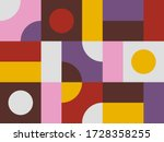 pattern design in geometric... | Shutterstock .eps vector #1728358255