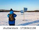 A Man Takes A Photo To A Road...