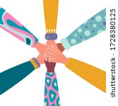 team building. diverse group... | Shutterstock .eps vector #1728380125