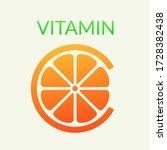 vitamin c concept  citrus... | Shutterstock .eps vector #1728382438