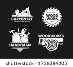 carpentry woodworks handyman... | Shutterstock .eps vector #1728384205