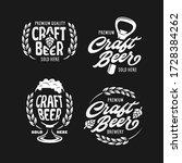 craft beer emblems set. beer... | Shutterstock .eps vector #1728384262