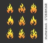 fire flames logo templates... | Shutterstock .eps vector #1728384268