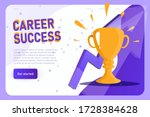 career success with champion... | Shutterstock .eps vector #1728384628