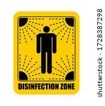 disinfection area sticker....   Shutterstock .eps vector #1728387298