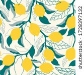 citrus seamless pattern with...   Shutterstock .eps vector #1728397132