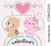 happy valentines day background ... | Shutterstock .eps vector #1728422242