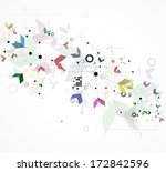 abstract global infinity... | Shutterstock .eps vector #172842596