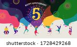 anniversary celebration. happy... | Shutterstock .eps vector #1728429268