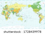 world map   pacific view   asia ...   Shutterstock .eps vector #1728439978