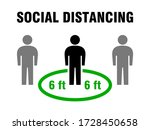 social distancing people keep a ...   Shutterstock .eps vector #1728450658