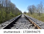 Between Rails Of A Railroad In...