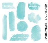 set green of watercolor stain... | Shutterstock .eps vector #1728467905