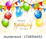 colorful balloons isolated on... | Shutterstock .eps vector #1728506452