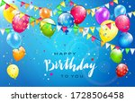 lettering happy birthday on... | Shutterstock .eps vector #1728506458