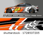 car wrap decal graphic.... | Shutterstock .eps vector #1728537205