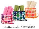 bath towels against white...   Shutterstock . vector #172854338