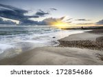 sunset at solent beach at...