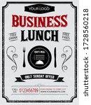 restaurant menu typographic... | Shutterstock .eps vector #1728560218