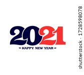 happy new year 2021 logo text... | Shutterstock .eps vector #1728598078