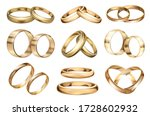 Wedding Ring Vector Realistic...