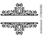 monochrome element to design... | Shutterstock . vector #172863482