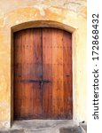 charming old wooden spanish... | Shutterstock . vector #172868432